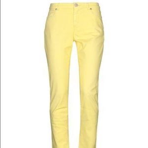Weekend MaxMara W111 Yellow Skinny Jeans Sz 10